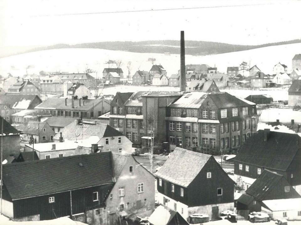 Spindelfabrik Neudorf Firmenansicht 1945