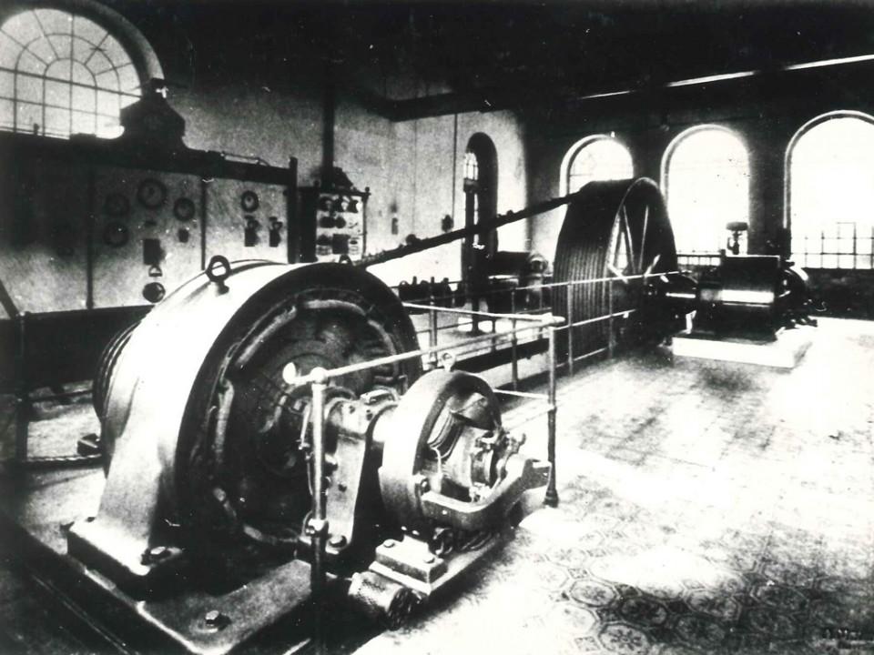 Spindelfabrik Neudorf Maschinenraum 1924